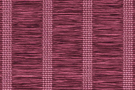 plaits: Place Mat, Made of Interwoven Paper Parchment Plaits, Stained Magenta, Grunge Texture Sample.