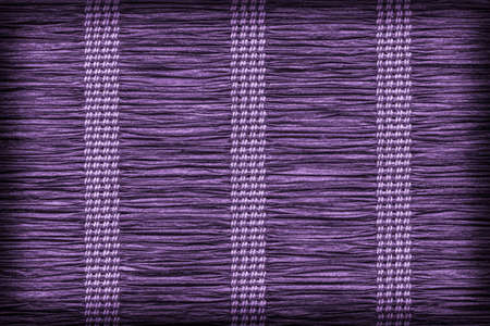 plaited: Paper Parchment Plaited Place Mat, Stained Dark Purple, Vignette, Grunge Texture Sample.