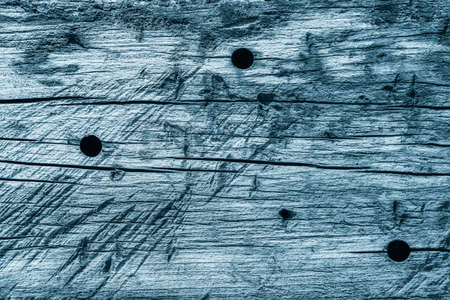 knotting: Old Pale Blue Stained Wood Grunge Texture. Stock Photo