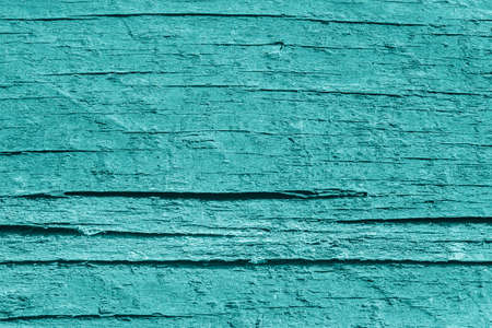 dilapidation: Old Wood, Weathered, Rotten, Cracked, Pale Cyan, Grunge Texture. Stock Photo