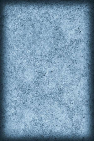 powder blue: Recycle Kraft Paper, Coarse Grain, Crumpled, Blotted, Mottled, Stained Pale Powder Blue, Vignette Grunge Texture Sample. Stock Photo