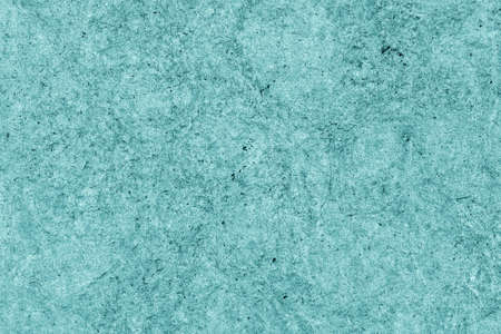 impurities: Recycle Kraft Paper, Coarse Grain, Crumpled, Blotted, Mottled, Stained Cyan, Grunge Texture Sample. Stock Photo