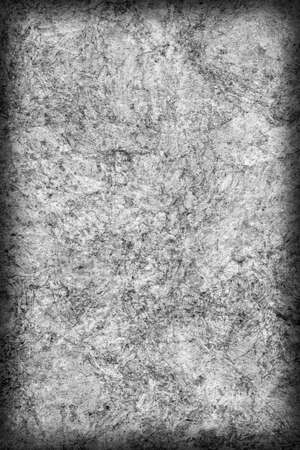 impurities: Recycle Kraft Paper, Coarse Grain, Crumpled, Blotted, Mottled, Bleached and Stained Gray, Vignette, Grunge Texture Sample.