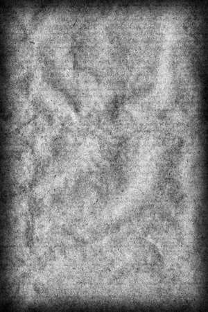 macr: Recycle Kraft Paper, Coarse Grain, Crumpled, Blotted, Mottled, Bleached and Stained Gray, Vignette, Grunge Texture Sample.