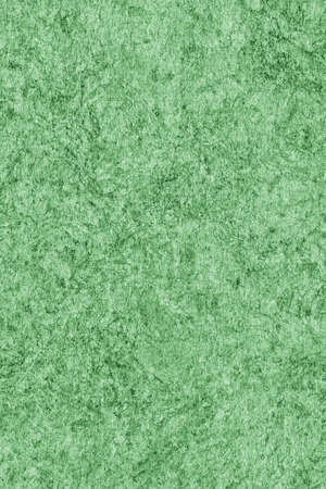 impurities: Recycle Kraft Paper, Coarse Grain, Crumpled, Blotted, Mottled, Stained Green, Grunge Texture Sample. Stock Photo