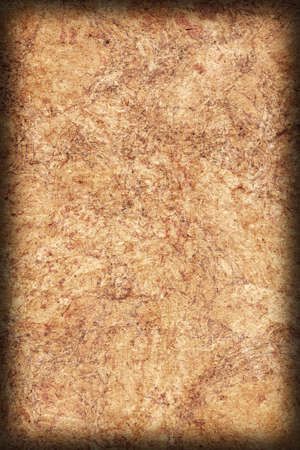 blotted: Recycle Brown Kraft Paper, Coarse Grain, Crumpled, Blotted, Mottled, Grunge Texture Sample.