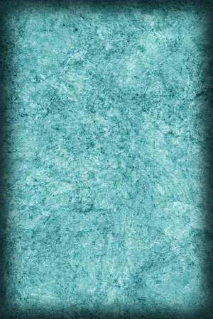 impurities: Recycle Kraft Paper Crumpled Cyan Vignette Grunge Texture.