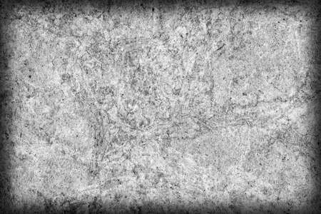 blotted: Recycle Kraft Paper, Coarse Grain, Crumpled, Blotted, Mottled, Bleached and Stained Gray, Vignette, Grunge Texture Sample.