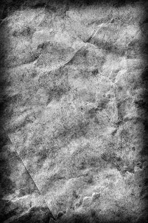 coarse: Recycle Gray Kraft Paper Coarse Crumpled Mottled Vignette Grunge Texture.