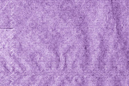 blotted: Recycle Kraft Paper, Coarse Grain, Crumpled, Blotted, Mottled, Stained Purple, Grunge Texture Sample.