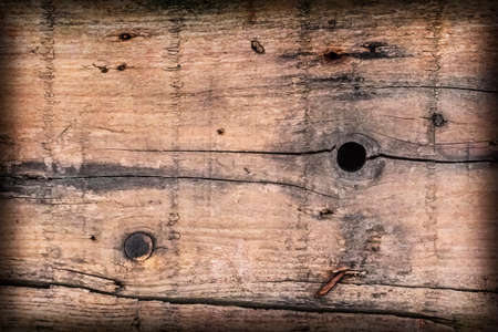 coarse: Old Knotted, Weathered Floorboard, Coarse, Vignette, Grunge Texture.