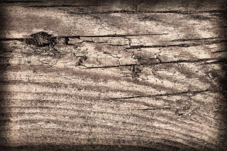 floorboard: Old Knotted, Weathered Floorboard, Coarse, Vignette, Grunge Texture.