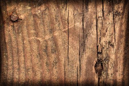 floorboard: Old Knotted, Weathered Floorboard, Coarse, Vignette, Grunge Texture.