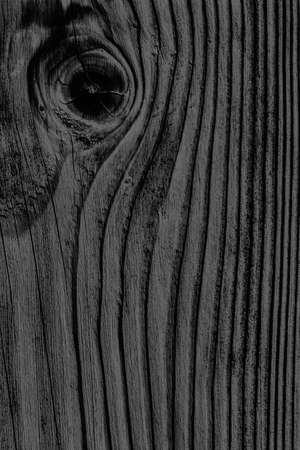 knotting: Old Black Stained Wood Grunge Texture. Stock Photo
