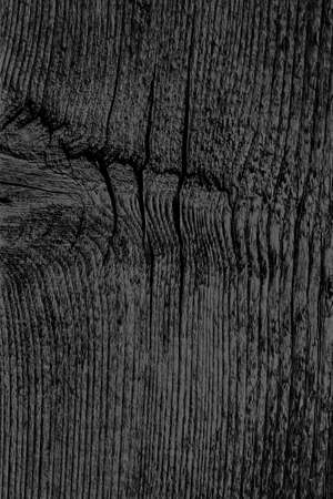 Old Black Stained Wood Grunge Texture. Banco de Imagens