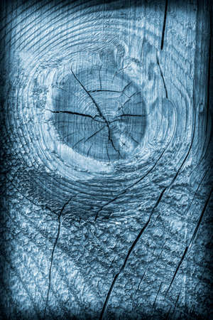 knotting: Old Wood Blue Stained Vignette Grunge Texture.
