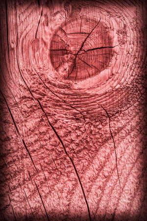 knotting: Old Wood Pale Red Vignette Grunge Texture. Stock Photo