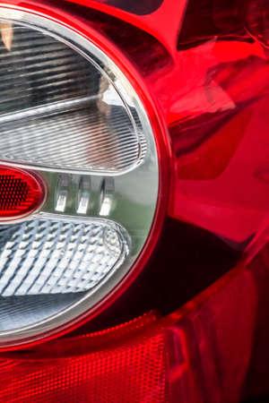 tail light: Modern Car Tail Light Detail. Stock Photo