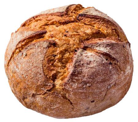 whitebackground: Monastery Bread Loaf Isolated Stock Photo
