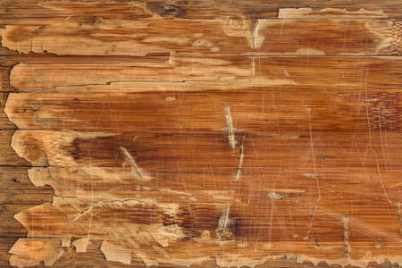 softwood: Scanned Image of an Old Weathered Varnished Block-board Cracked Scratched Peeled Off Grunge Texture. Stock Photo
