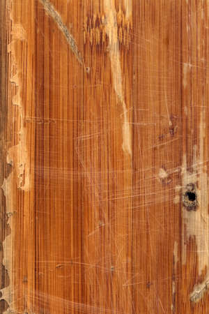varnished: Scanned Image of an Old Weathered Varnished Block-board Cracked Scratched Peeled Off Grunge Texture. Stock Photo