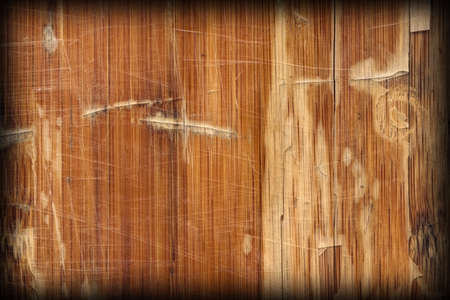 softwood: Scanned Image of an Old Weathered Varnished Block-board, Cracked, Scratched, Peeled Off, Vignette Grunge Texture. Stock Photo
