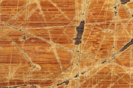 tongue and groove: Old Varnished Block-board, Weathered, Cracked, Scratched, Peeled Off, Grunge Texture. Stock Photo