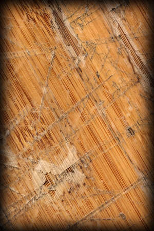 Old Varnished Block-board, Weathered, Cracked, Scratched, Peeled Off, Vignette Grunge Texture.