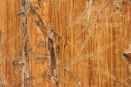 varnished: Old Varnished Block-board, Weathered, Cracked, Scratched, Peeled Off, Grunge Texture. Stock Photo