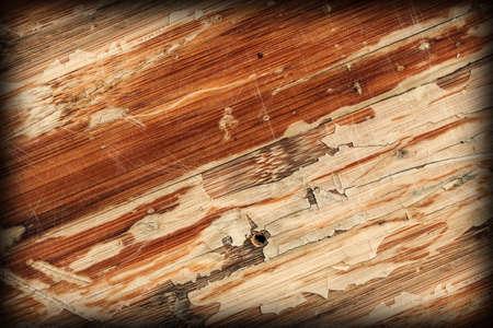 Old Varnished Wooden Panel Cracked Scratched Peeled Vignette Grunge Texture