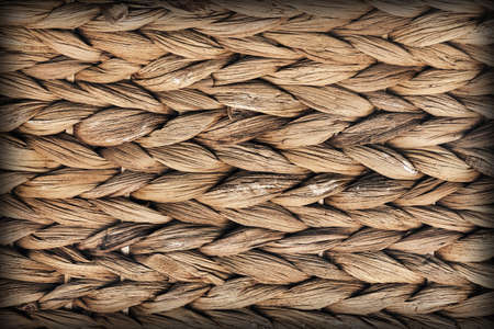 raffia: Raffia Place Mat Extra Rough Plaiting Vignette Grunge Texture Detail Stock Photo