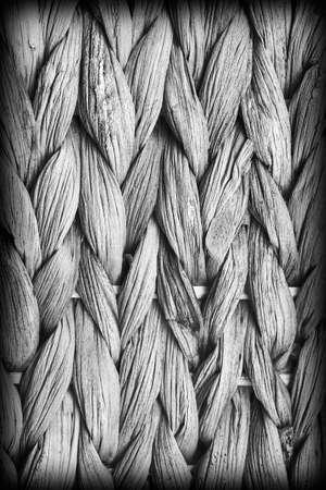 raffia: Raffia Place Mat Extra Rough Plaiting Gray Vignette Grunge Texture Detail