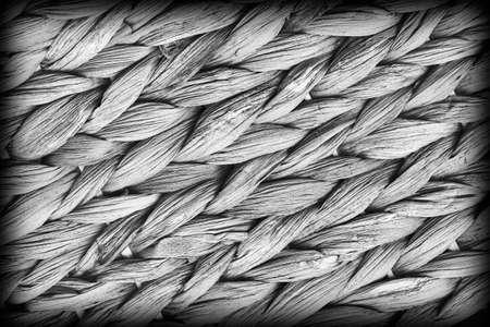 raffia: Raffia Place Mat Extra Rough Plaiting Gray Vignette Grunge Texture Detail.