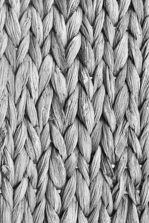 raffia: Raffia Place Mat Extra Rough Plaiting Gray Grunge Texture Detail.