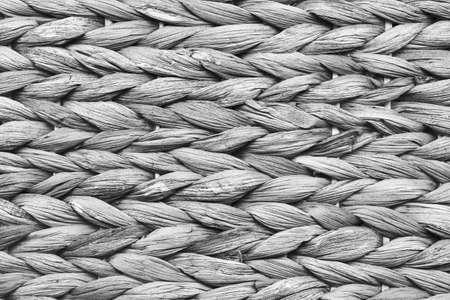 place mat: Raffia Place Mat Extra Rough Plaiting Gray Grunge Texture Detail.