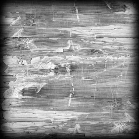 wood panel: Old Weathered Wood Laminated Flooring Varnished Blockboard Panel, Cracked, Scratched, Peeled Off, Gray Vignette Grunge Texture