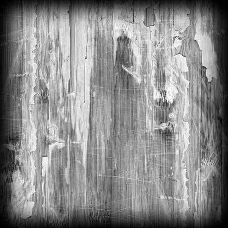 varnished: Old Weathered Wood Laminated Flooring Varnished Blockboard Panel, Cracked, Scratched, Peeled Off, Gray Vignette Grunge Texture