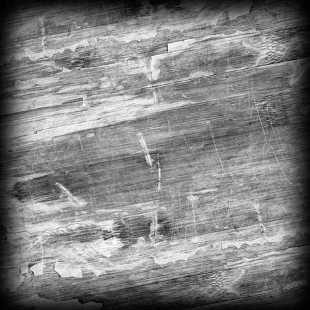 tongue and groove: Old Weathered Wood Laminated Flooring Varnished Blockboard Panel, Cracked, Scratched, Peeled Off, Gray Vignette Grunge Texture