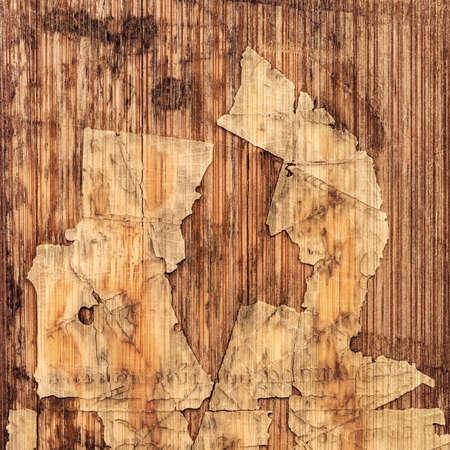 wood flooring: Old Laminated Flooring Varnished Wood Block-board, Cracked Scratched Peeled Grunge Texture.