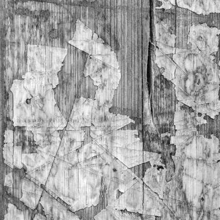 wood flooring: Old Laminated Flooring Varnished Wood Block-board, Cracked Scratched Peeled Gray Grunge Texture. Stock Photo