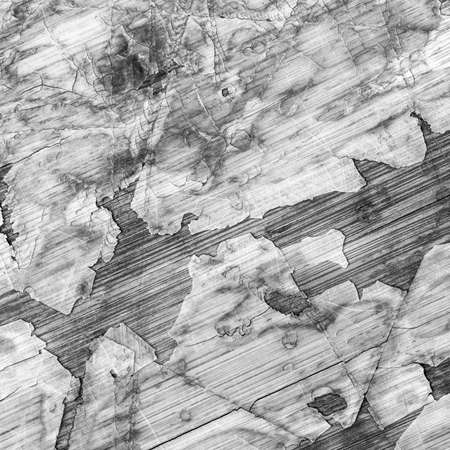 tongue and groove: Old Laminated Flooring Varnished Wood Block-board, Cracked Scratched Peeled Gray Grunge Texture. Stock Photo