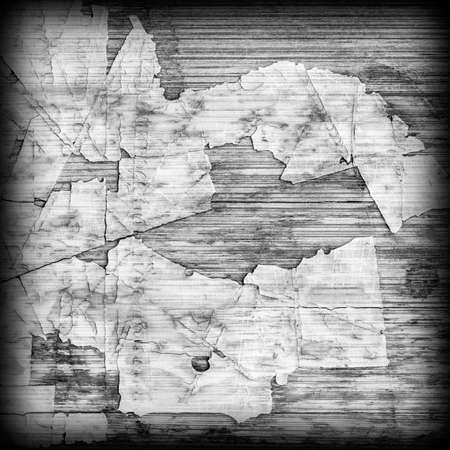 tongue and groove: Old Laminated Flooring Varnished Wood Block-board, Cracked Scratched Peeled Vignette Gray Grunge Texture.