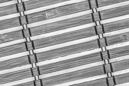 bamboo mat: Bamboo Mat, Bleached and Stained Gray, Grunge Texture Sample. Stock Photo