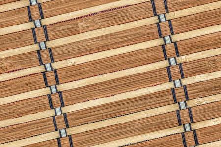bamboo mat: Bamboo Mat Natural Ocher-brown, Grunge Texture Sample.