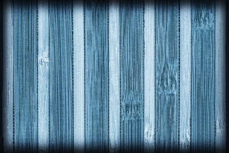 bamboo mat: Bamboo Mat Bleached and Stained Blue Vignette, Grunge Texture Sample.