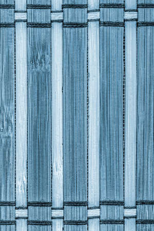 bamboo mat: Bamboo Mat Bleached and Stained Blue Grunge Texture Sample.