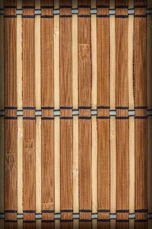 bamboo mat: Bamboo Mat, Natural Ocher-brown Vignette, Grunge Texture Sample.