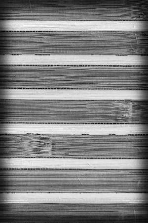 bamboo mat: Bamboo Mat, Bleached and Stained Gray, Vignette Grunge Texture Sample.