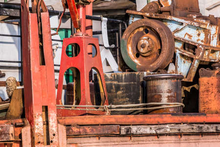 scrapped: Old Scrapped River Dredger Gear Detail