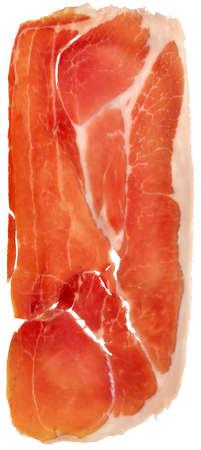 Prosciutto Cured Pork Ham Rasher Isolated On White Background